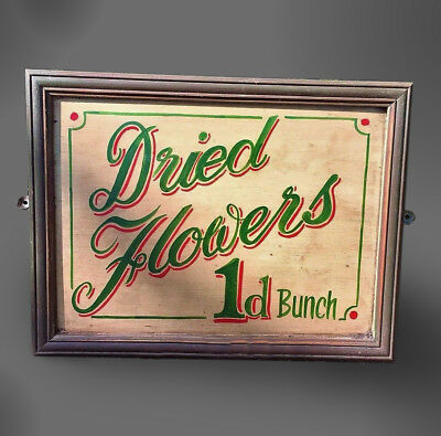 Hand Painted Shop Advertising Sign Early C. 20th Not Enamel Sign