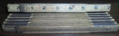 Lot Of 2 Vintage Folding Wooden Rulers 6 Feet Long Craftsman Tools Rules Measure