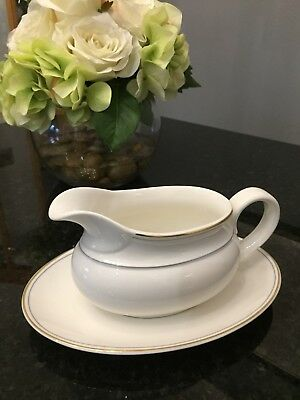 Royal Doulton for Marks & Spencer M&S LUMIERE Gravy Boat & Stand - Fabulous Con