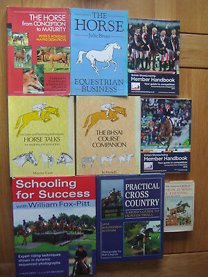 Job lot collection of equestrian horse riding training health eventing books x10