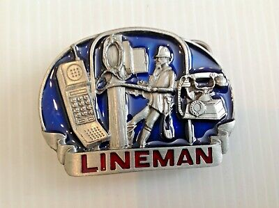 Lineman vintage belt buckle.1995