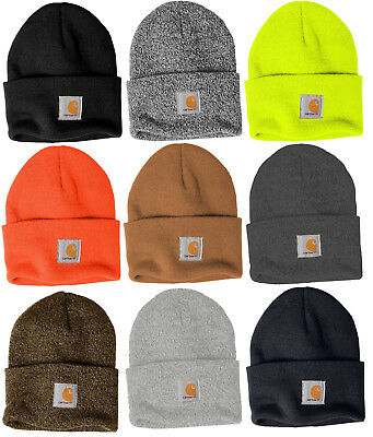 Carhartt Acrylic Watch Beanie Knit Men s Stocking Cap Warm Winter Hat  Authentic a04060996297
