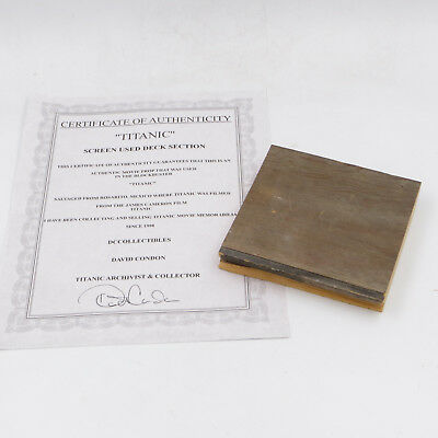 Titanic Screen Used Movie Prop Wood Decking Section Cameron Dicaprio Coa