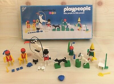 Vintage Very Rare Playpeople Circus SuperSet 1790 Marx Toys Playmobil PleaseRead