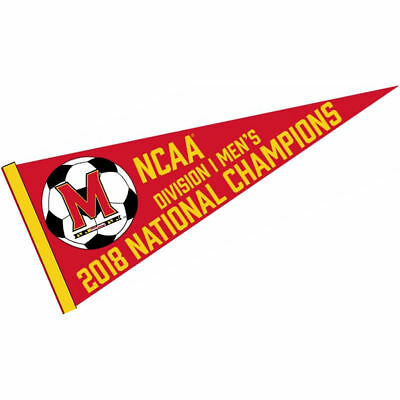 Maryland Terps 2018 Mens Soccer Champions Pennant Flag