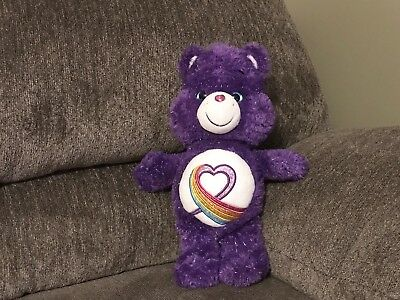 Care Bear Rainbow Heart Limited Edition 35th Anniversary Purple