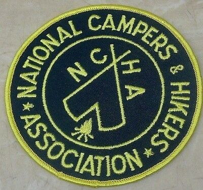 LMH Patch Badge NCHA Emblem Logo National Campers & Hikers Assc. Camping  5 1/4""