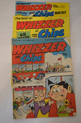 3 x Whizzer And Chips - Best of March 1986 & June 1989 - Comic 1987