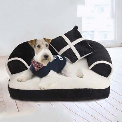 Pet Dog Cat Kennel Bed Sofa House Soft Warm Cushion Mat Blanket Pad Large Puppy