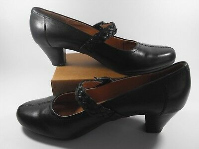 b76fc8ba0f2c1c CLARKS ARTISAN MARY JANE Ladies Black Leather Buckle Court Shoes Wide Fit 6  E 1 ...