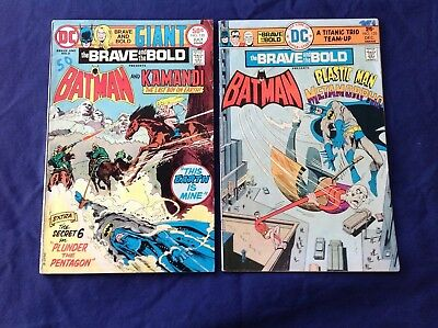 DC Brasve and the Bold 1st Series:(8 bk lot) #120, 123, 124, 131, 133-5, 137