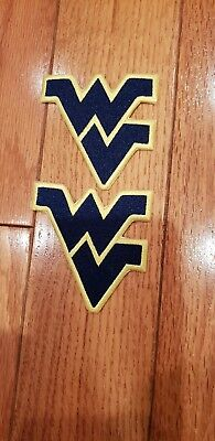 """WV West Virginia Mountaineers (LOT 2 Vintage Embroidered Iron On Patches 3x 3"""""""