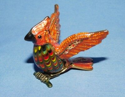 Cloisonne and Glass Small Cardinal