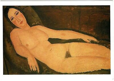 Modigliani - Nude on a Divan - New art post card (out of print)