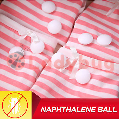 Naphthalene Moth Balls White Toilets Cupboards Books Larva Cloth Kill Insects