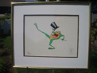 Michigan J. Frog, Warner Bros. Framed Original Hand Inked Sericel, With Coa 1992