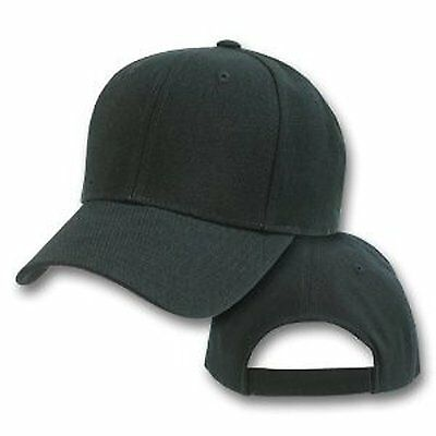 Baseball Cap Plain Charcoal  Loop Adjustable Solid Hat Polo Style One Size New
