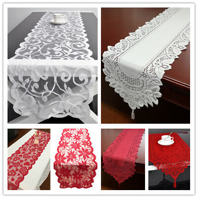 Vintage Lace Table Runner Doilies Wedding Party Valentines Day Decor 13x70inch
