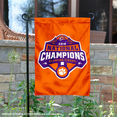 Clemson 2018 CFP Football National Champions Garden Flag and Yard Banner