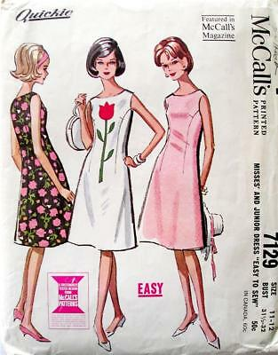 Vintage McCall's Pattern 7129 Size 11-12  Easy Complete with Instructions 1960s
