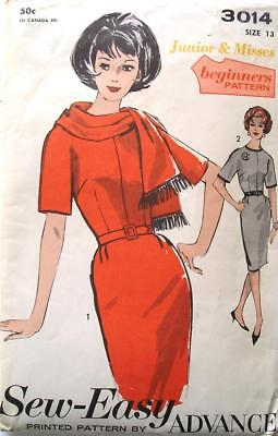 Vintage 1960s Advance Pattern 3014 Size 11-12  Easy Complete with Instructions