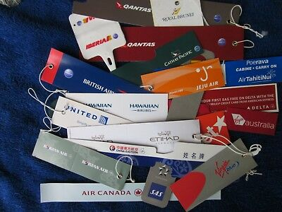 Selection of 22 luggage tags from World airlines