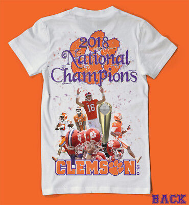 2018 National Champions Clemson Tigers 2 Sided Shirt Death Valley LOOK! WOW !