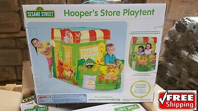Hooper's Store Playtent Sesame street toy kids Fisher Price NEW play game