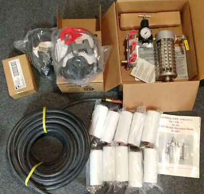 3M W-2806 Bundle Fresh Air Filter & Regulator Panel, Mask, Hoses, Extra Filters