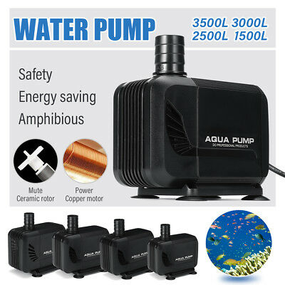 Aqua Pump Water Feature Fish Pond Aquarium Tank Waterfall Sump Outdoor 15W-45W