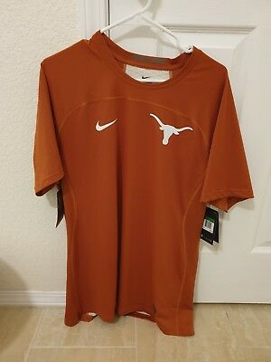 e6aa0eb2f NIKE Pro Hypercool Texas Longhorns Burnt Orange Fitted S/S Jersey Shirt Mens  XL