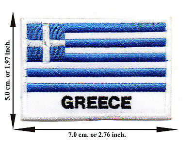Greece Travel Flag Nation Country Sport DIY Applique Iron on Patch Sew Crafts