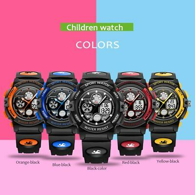 Sanda Children Watch 30m Waterproof Luminous Analog Digital Watch for Boys T2