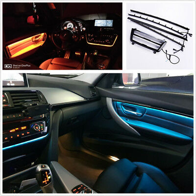 Dual Color LED Car Door Dash Panel Atmosphere Decor Light Strip For BMW F30 F31