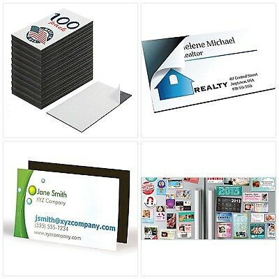 NEW! Self Adhesive Business Card Magnets, Peel and Stick