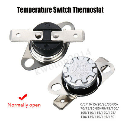KSD301 Normal Open 0-150° Thermostat Temperature Thermal Control Switch 10A 250V