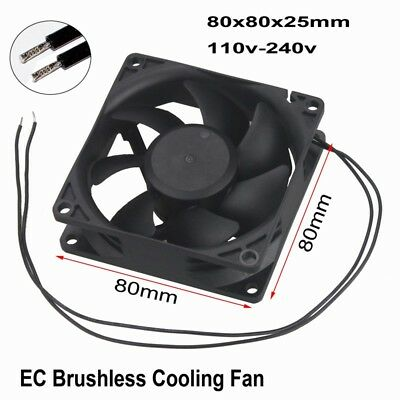 AC 110V 120V 220V 240V Ball Bearing 80mm 25mm 80x80x25mm Computer Cooling Fan