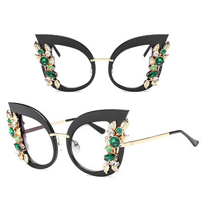 Fashion Women Oversize Cat Eye Rhinestone Frame Sunglasses UV400 Eyewear 2019 US