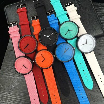 Stereo Digital Scale Quartz Watch Bracelet Watch Canvas Belt Wrist Watch T2