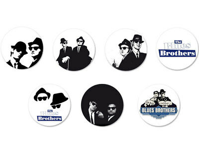 Lot Pack Badge Button Pins Ø38mm The Blues Brothers Groupe Soul Rhythm'n'blues