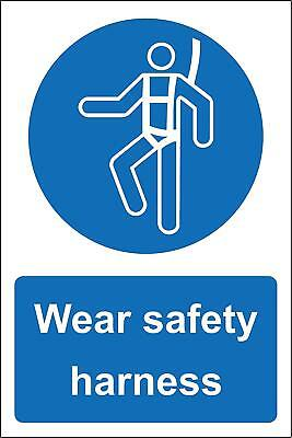 Wear safety harness Safety sign