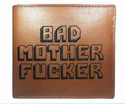 BAD MOTHER FU*KER 100% real leather wallet as seen in the movies - Embroidered