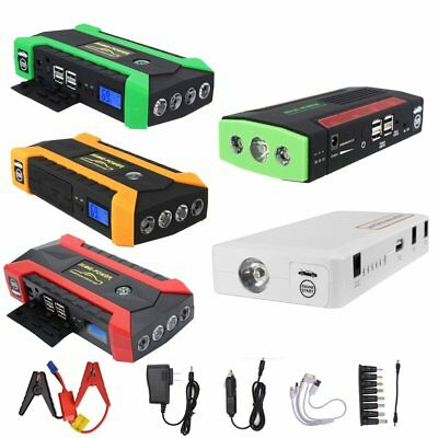 12V 16800/89800mAh Car Jump Starter Booster Portable Battery Charger Power Bank