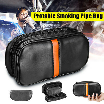 Leather Pipe Bag Tobacco Pouch Case Rolling Paper Cigarette Pipe Holder Portable