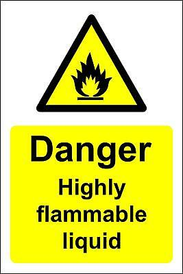 Danger highly flammable liquid Safety sign