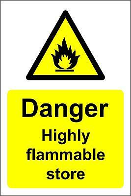 Highly flammable store chemical Safety sign