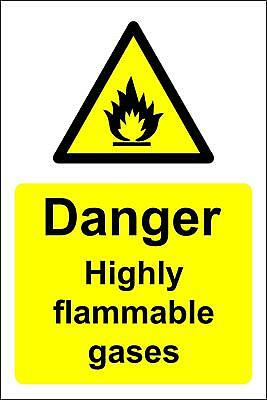Danger highly flammable gases Safety sign