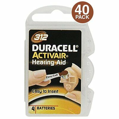 Duracell Activair Size 312 Mercury Free Hearing Aid Batteries (40 Pack)