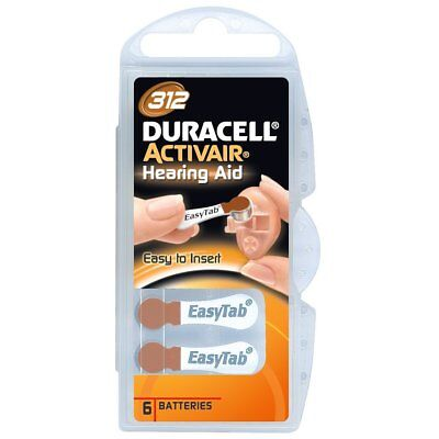 Duracell Activair Size 312 Mercury Free Hearing Aid Batteries (6 Pack)