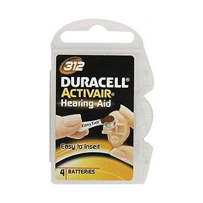 Duracell Activair Size 312 Mercury Free Hearing Aid Batteries (4 Pack)